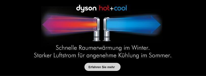 Dyson hot+cool. Schnelle Raumerwärmung im Winter. Starker Luftstrom für angenehme Kühlung im Sommer.