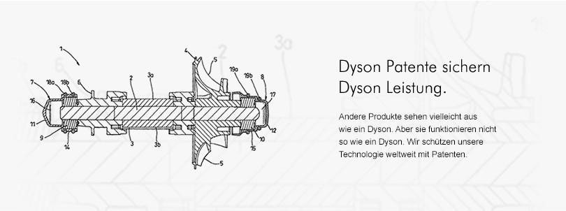 Dyson Patente sichern Dyson Leistung. Andere Produkte sehen vielleicht aus wie ein Dyson. Aber sie funktionieren nicht so wie ein Dyson. Wir schützen unsere Technologie weltweit mit Patenten.