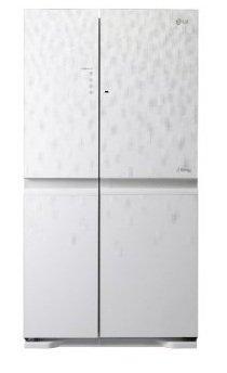 LG GS9566MNAV Side-by-Side Kühl-Gefrier-Kombination (A+, 386 L ... | {Amerikanische kühlschränke weiß 37}
