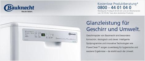Bauknecht Banner Markenshop Spülen
