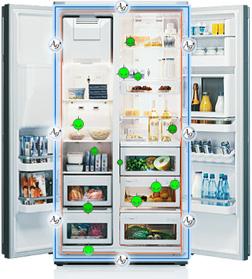 Kühlschrank Doppeltür samsung rs h1utpe side by side kühlschrank a 178 9 cm höhe