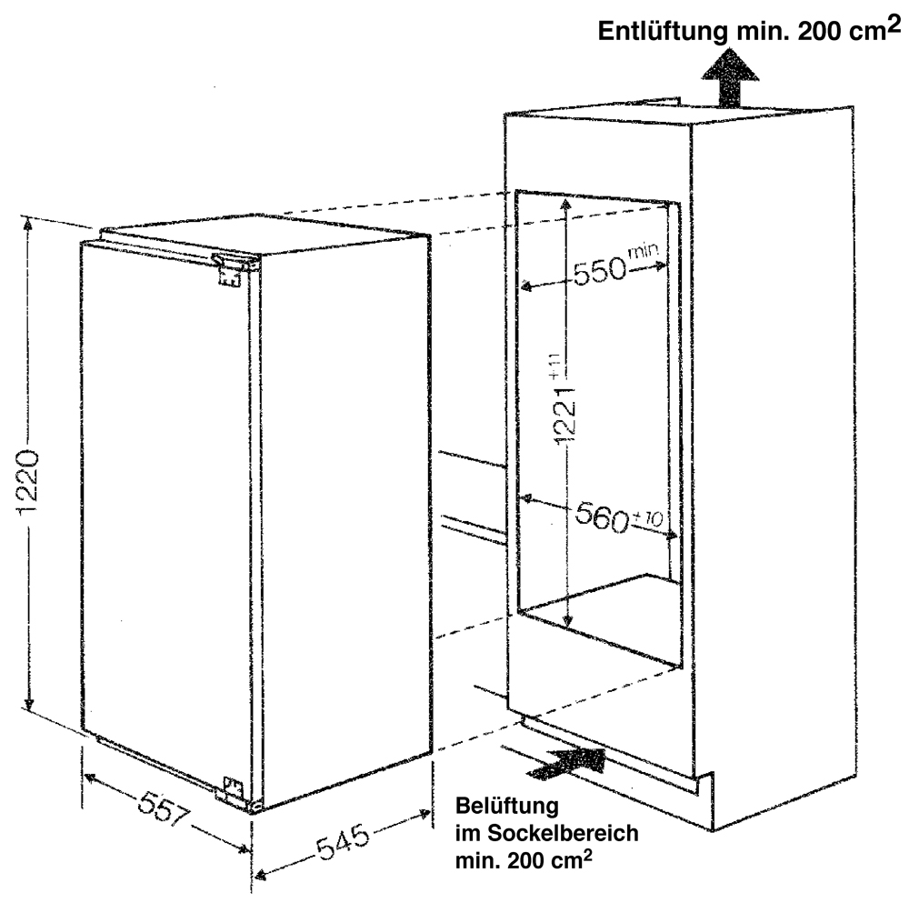 Bauknecht KRIK 2204/A+ Kühlschrank integrierbar 25% sparsamer als ...