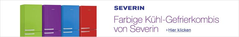 Farbige Kühl-Gefrierkombis von Severin