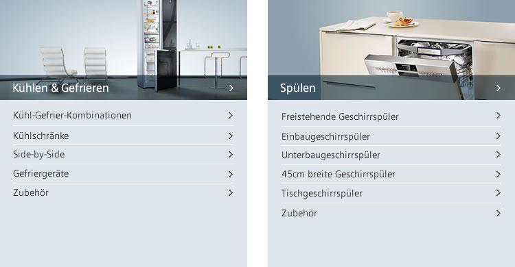 Siemens Kuehlgeraete und Geschirrspueler
