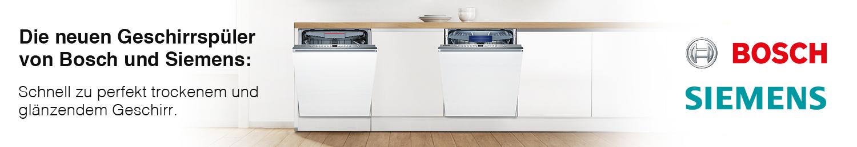 Die neuen Geschirrspüler von Bosch und Siemens: schnell zu perfekt trockenem und glänzendem Geschirr