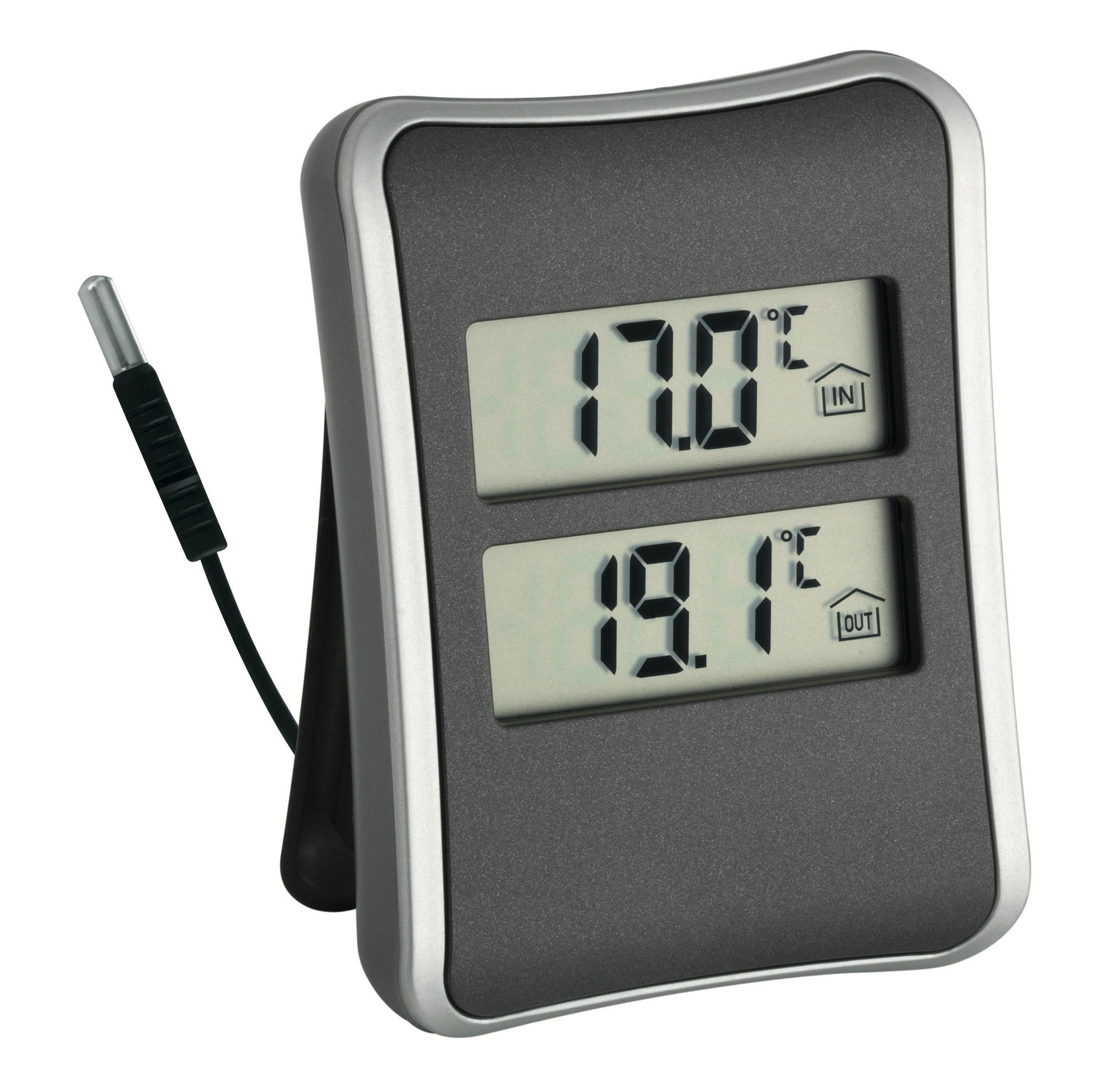 tfa dostmann digitales innen aussen thermometer. Black Bedroom Furniture Sets. Home Design Ideas