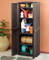 keter 17190092 universalschrank rattan style utility shed kunststoff braun garten. Black Bedroom Furniture Sets. Home Design Ideas