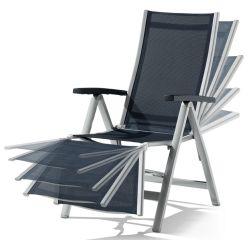 sieger 980 a g relaxliege montesa aluminium und textilux gewebe graphit grau. Black Bedroom Furniture Sets. Home Design Ideas