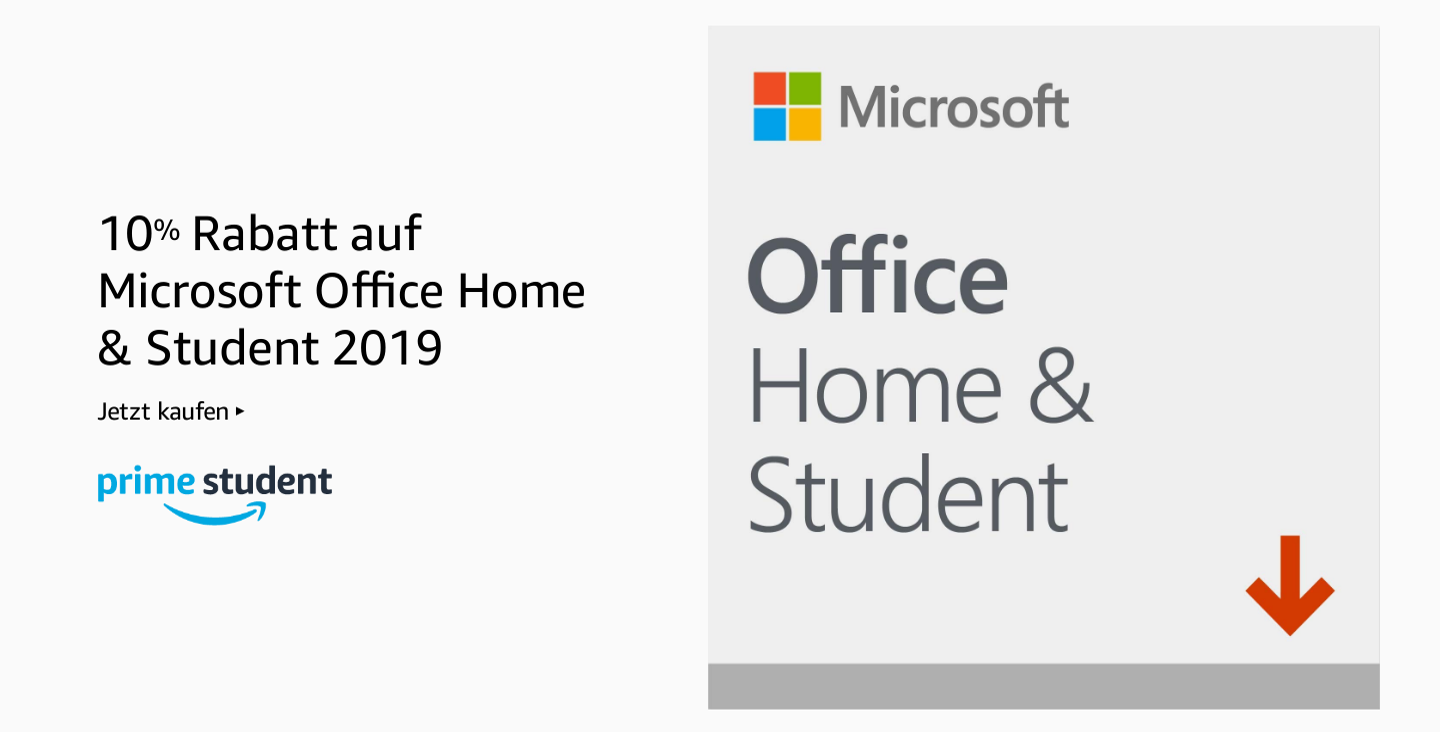 10% Rabatt auf Microsoft Office Home & Student 2019