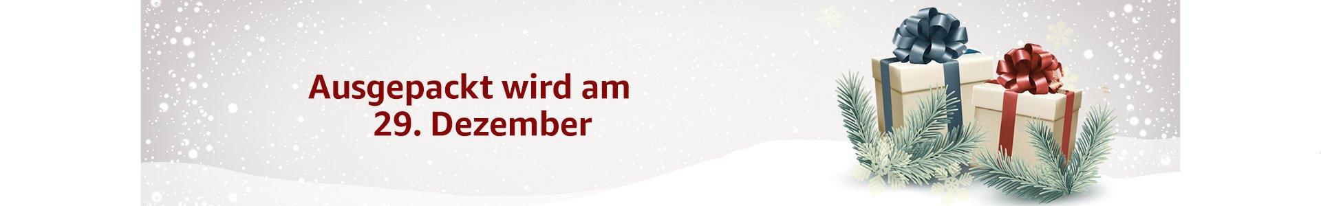 Ausgepackt wird am 29. Dezember