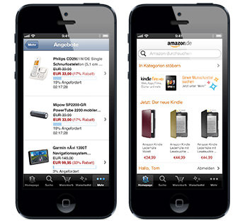 amazon app f r iphone und ipod touch. Black Bedroom Furniture Sets. Home Design Ideas