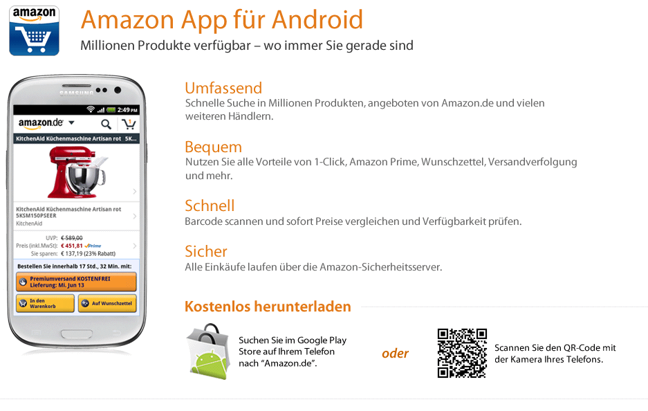 Amazon App für Android