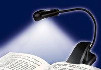wedo 2541001 mobile leselampe mit led beleuchtung und clip schwarz beleuchtung. Black Bedroom Furniture Sets. Home Design Ideas