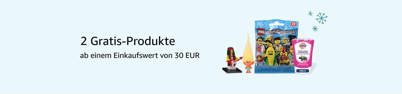 Ab 30 EUR Einkaufswert erhalten Sie zwei ausgewählte Produlte kostenlos dazu