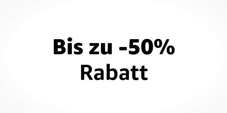 Bis zu 50% Rabatt auf ausgewählte Produkte