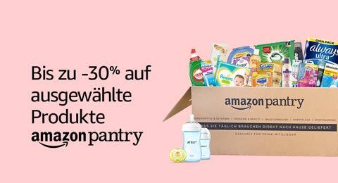 Amazon Pantry: -30% auf ausgewählte Produkte