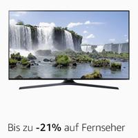Bis zu -21% auf Fernseher