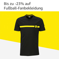 -20% auf Fußball-Fanbekleidung
