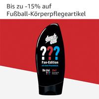 Bis zu -15% auf Fußball-Körperpflegeartikel