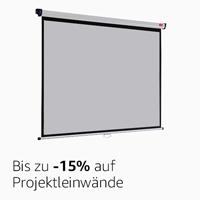 -15% auf Projektleinwände