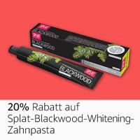 20% Rabatt auf Splat blackwood Whitening Zahnpasta