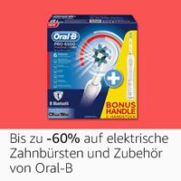 Bis zu 60%: elektrische Zahnbürsten und Zubehör von Oral-B