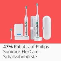 -47%: Philips Sonicare FlexCare Schallzahnbürste inkl. 2. Handstück