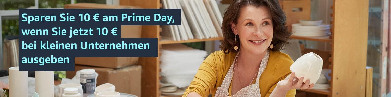 Sparen Sie 10€ am Prime Day, wenn Sie jetzt 10€ bei kleinen Unternehmen ausgeben