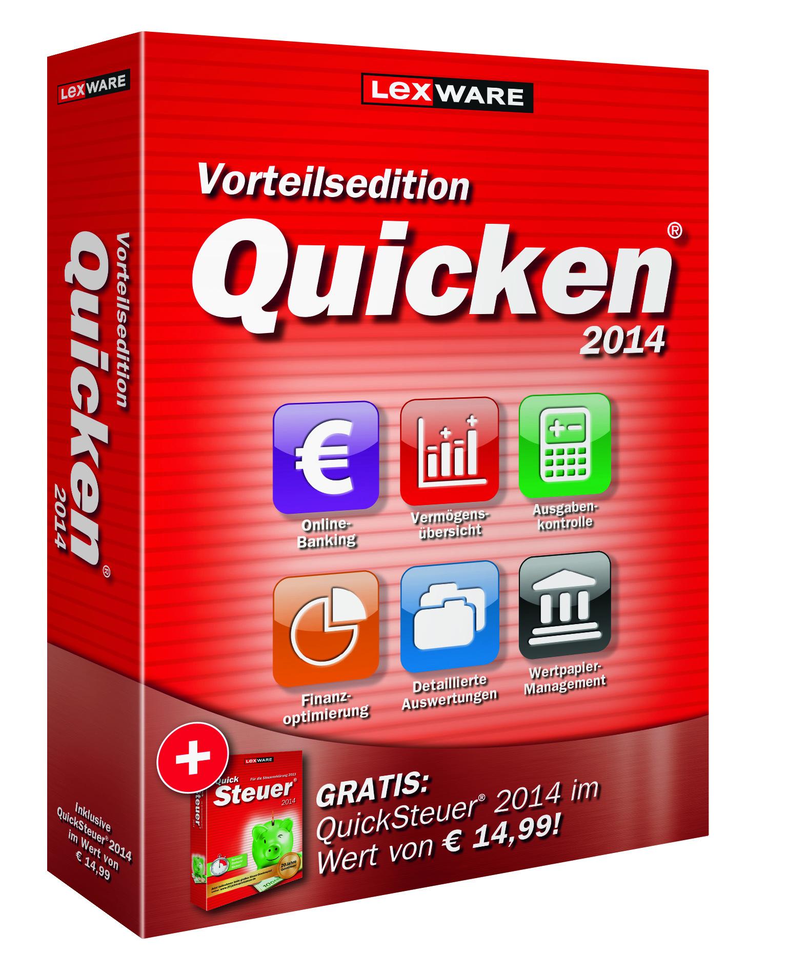 Lexware Quicken 2014 Vorteilsedition- Persönlicher