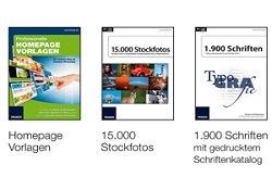 Stockfotos, Schriften und Homepage-Vorlagen