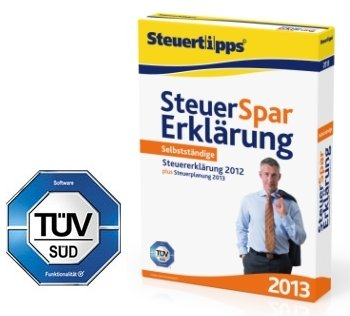 Steuer-Spar-Erklärung für Selbstständige 2013