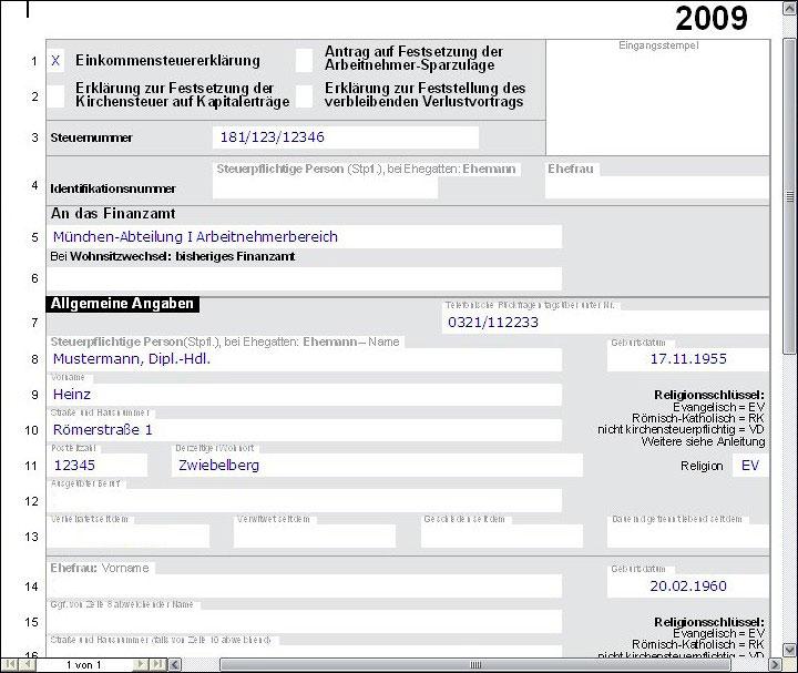 lohnsteuer freibetrag 2010 jetzt mit steuerklassen empfehlung und faktorverfahren und infos zu sozialleistungen gesonderte feststellung 2009 fr anlage v - Steuererklarung Anlage V Beispiel