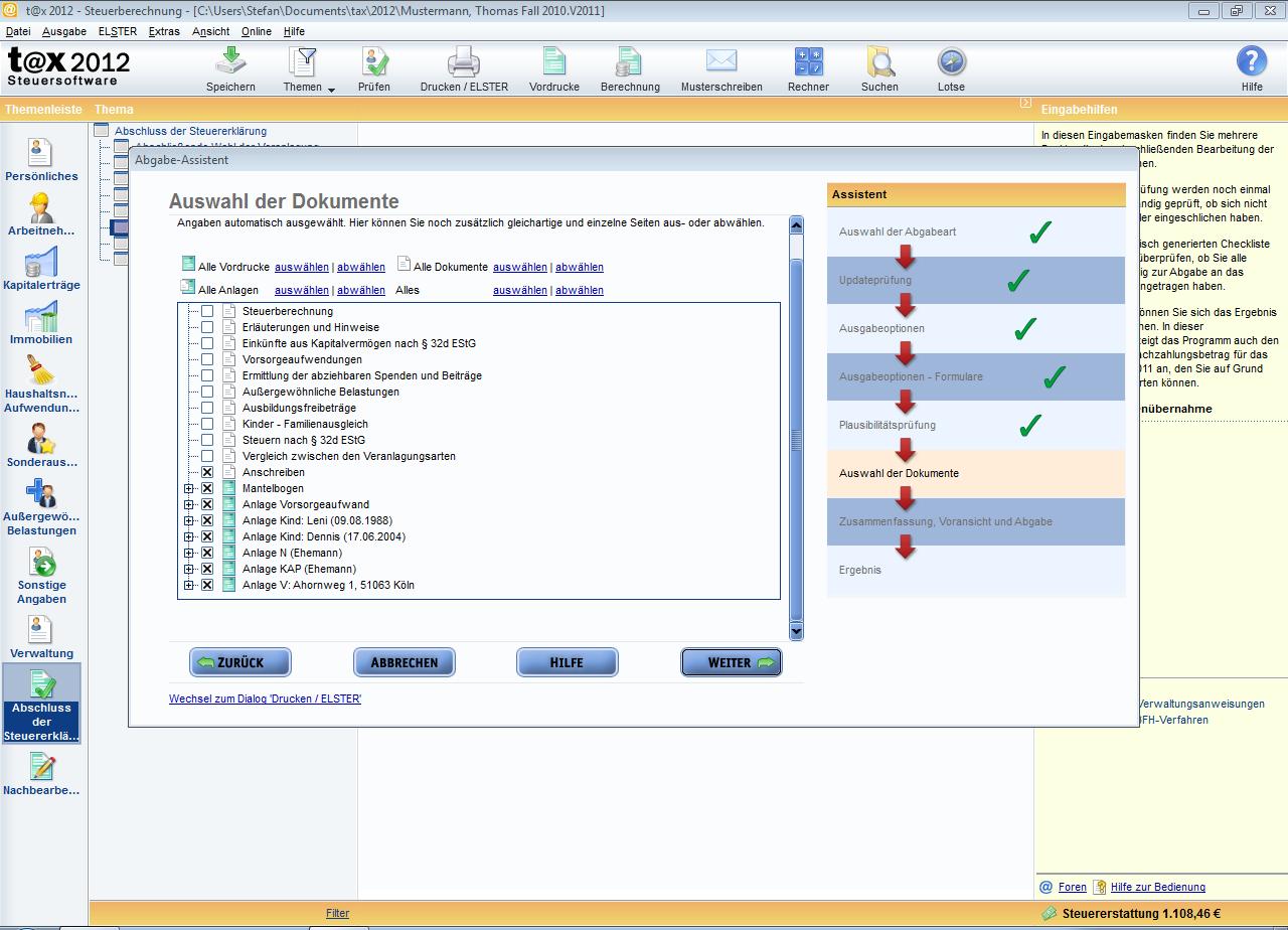 T At X 2012 Für Steuerjahr 2011 Download Amazonde Software