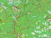 Toppgrafische Karte mit routingfähigem Wegenetz