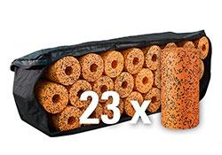 Blackroll Orange (Das Original) - DIE Selbstmassagerolle - big bag PRO mit 23 Stück Rollen inkl. 2 Übungs-DVD & 4 Satz Poster