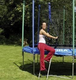 HUDORA Leiter für Gartentrampoline mit bis zu 90 cm Rahmenhöhe (Art. 65164)
