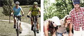 Anwendungsbereiche Radfahren und Geocachen