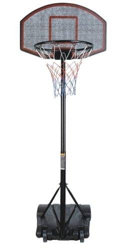 Ultrasport Panneau de basket, dispositif de basket stable et mobile, hauteur réglable (de 165 à 205 cm), panier de basket pour enfants et adultes, en plastique de qualité supérieure, pied remplissable