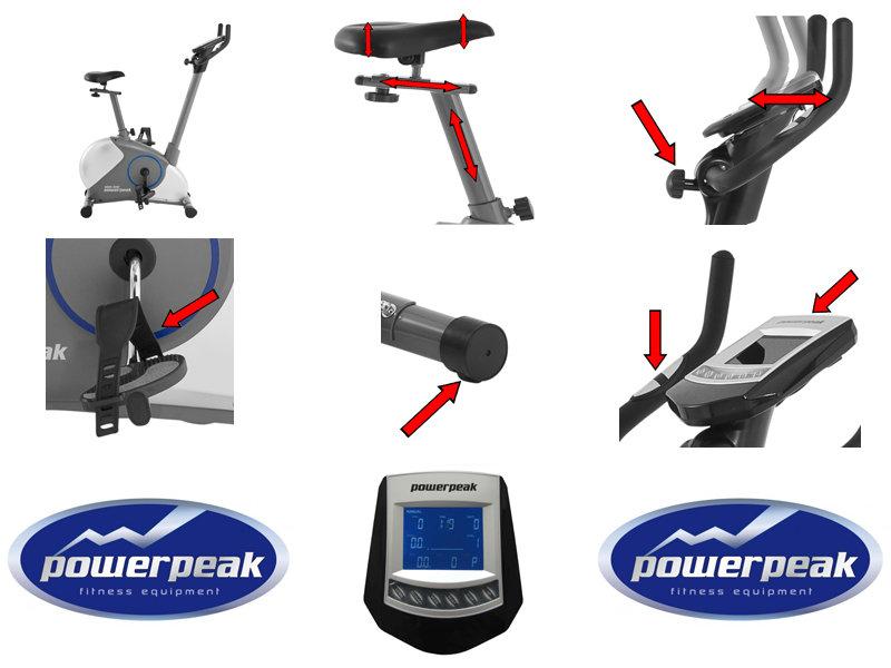 Der Powerpeak FHT8314P Slim Line Ergometer: Kompaktes Design, Elegant und vollausgestattet. - Zusatzbild