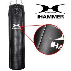 HAMMER Boxsack Premium, Rindsleder Professional, schwarz - Zusatzbild