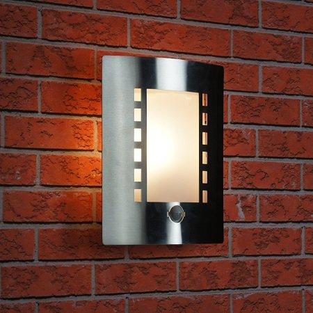 ranex edelstahl wandleuchte au enleuchte mit bewegungsmelder beleuchtung. Black Bedroom Furniture Sets. Home Design Ideas