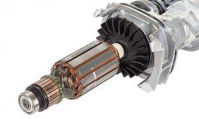 Schlagbohrmaschine mit 850 Watt mit 2-Gang-Getriebe und Zusatzhandgriff mit Zahnkranzbohrfutter - Funktion