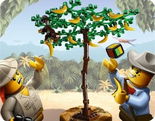 lego spiele 3853 banana balance spielzeug. Black Bedroom Furniture Sets. Home Design Ideas