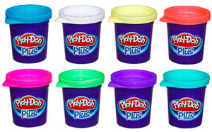 Play-Doh A1206E24 - Plus, Kinderknete, 8er Pack
