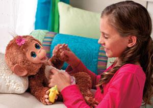 FurReal Friends A1650E24 - Cuddles, Mein Baby Äffchen