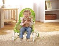 Fisher-Price BCD28 2-in-1 Kompakt-Schaukelsitz mit lustigen Tiermotiven und abnehmbarer Spielzeugleiste, apfelgrün - Weitere Features