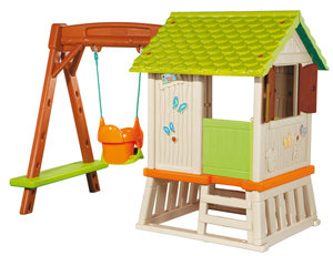 smoby 310463 winnie the pooh waldhaus mit schaukel und rutsche spielzeug. Black Bedroom Furniture Sets. Home Design Ideas