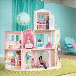 mattel j0505 barbie stadtvilla spielzeug. Black Bedroom Furniture Sets. Home Design Ideas