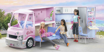 mattel j9509 barbie reisespa wohnmobil. Black Bedroom Furniture Sets. Home Design Ideas