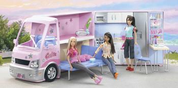 barbie wohnwagen mit pool